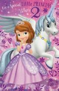 Sofia the First Age 2 Birthday Card